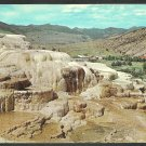 Minerva Terrace Mammoth Village Yellowstone National Park Chrome Postcard 1181