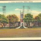 Topeka High School Topeka Kansas 1941 White Border Postcard 253