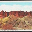 The Badlands of North Dakota White Border Postcard 257