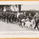 1918 Natgeo Photo World War 1 Welsh Soldiers On Parade With Goat & Drummers Wales UK