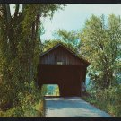 Country Road Covered Bridge Pittsford Vermont Pittsford Station Bridge Chrome Postcard 1186