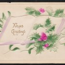 1910 Embossed Christmas Card Postcard Made in Germany 281
