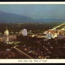 Splendid Night View Salt Lake City Utah From Bee Mountain White Border Chrome Postcard 282