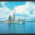 Shrimp Boat Big Mama Returns Home From the Sea Chrome Postcard 305
