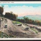 Hair Pin Turn Mohawk Trail MA White Border Postcard 1203 Vintage Autos Mountain