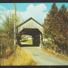 Covered Bridge at Entrance to Town of Lyndon Vermont Chrome Postcard 1205