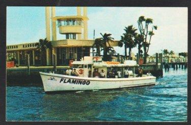 Deep Sea Fishing Boat The Flamingo Fort Lauderdale Florida Captain Frank Evans 1960 Business Card