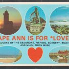 Cape Ann Is For Lovers Gloucester Rockport Magnolia Manchester MA Chrome Postcard 1209