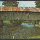 Covered Bridge Over Black River Coventry Vermont Chrome Postcard 1220