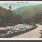 Dirt Highway Following Cold River Mohawk Trail MA White Border Postcard 1224