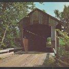 Covered Bridge The Kissin Bridge Rt 109 Belvidere Corners Cambridge Junction Vermont Chrome Postcard