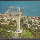 Pilgrim Tower Provincetown Cape Cod MA Harbor Pier Homes Churches Chrome Postcard 354