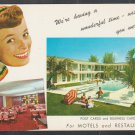 1960s Advertising Postcard For Purchasing Bulk Postcards For Your Hotel Motel or Restaurant