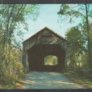Shaded Dirt Road Covered Bridge Broken Fence Brandon Vermont Chrome Postcard 1230