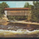 White Water Rushing By Covered Bridge Belvidere Corners Cambridge Junction Vermont Rt 109 Chrome