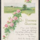 1907 1915 Divided Back My Birthday Greetings Card Postcard Field of Wild Flowers 359