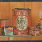 ca 1960 Advertising Postcard for Book of Collectible Tin Containers Chrome Postcard 504