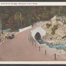 Antique Auto On Cold River Bridge Gravel Road Mohawk Trail MA White Border Postcard 377