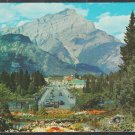 1940/50 Banff Avenue Looking Towards Cascade Mountain Banff Alberta Canada Chrome Postcard 1251