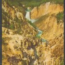 Grand Canyon of the Yellowstone & Lower Falls Yellowstone National Park Chrome Postcard 1252