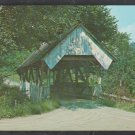 Green Banks Hollow Bridge Joe's Brook Dirt Road Danville Vermont Built 1880 Chrome Postcard 1257