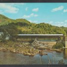 Bath Covered Bridge Ammonoosuc River Haverhill New Hampshire Built 1827 Large Home Barn Postcard