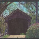 Covered Bridge Deep In The Woods Perkinsville Vermont Windsor County Chrome Postcard 1260