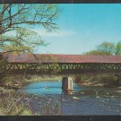 Covered Bridge Over Contoocook River New Hampshire Route 127 Chrome Postcard 1261