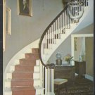 Graceful Staircase In The Colonel Black Mansion Ellsworth Maine Chrome Postcard 1267