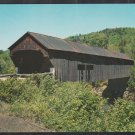 Covered Bridge Chester Vermont On A Splendid Summer Day Chrome Postcard 1270