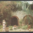 A lovely Senorita At The Fountain Of Youth St Augustine Florida Pottery Spanish Moss Chrome Postcard