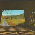 Farm Scene From Inside A Covered Bridge Rutland Vermont Chrome Postcard 1272