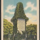 Revolutionar War Soldiers Monument Lexington MA Linen Postcard 1273