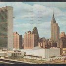 United Nations Buildings From East River New York City Chrome Postcard 1281