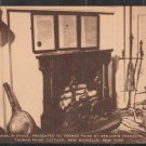 Benjamin Franklin Stove In Thomas Paine Cottage New Rochelle New York Postcard 1287
