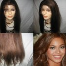 "100% REMI INDIAN FULL LACE WIG LIGHT YAKI 16"" #1B, #2 WITH HIGHLIGHTS"