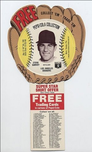 1977 Steve Garvey Pepsi Cola Baseball Glove Disc Mint!