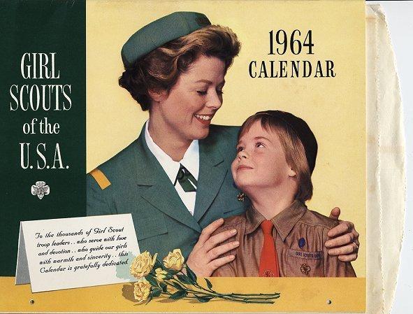 Vintage 1964 Girl Scout Calendar Unused in Original Bag