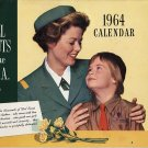 Vintage 1964 Girl Scout Calendar Unused in Original Bag