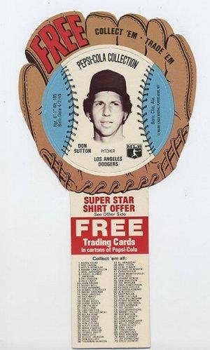 1977 Don Sutton Pepsi Cola Baseball Glove Disc
