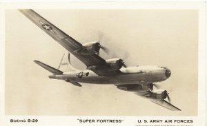 RPPC Super Fortress Boeing B-29 Post Card 1944
