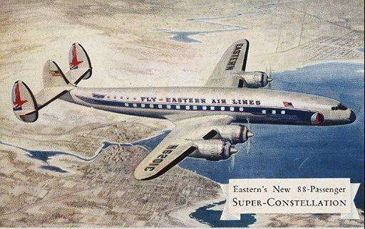Eastern Air Lines Super-Constellation Vintage Post Card