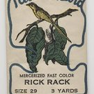 Vintage Red Rick Rack Tailor Bird Sealed Great Label