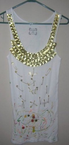 White Tank With Pins