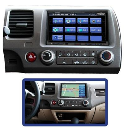 Honda Civic In-Dash DVD Player with GPS Navigation System