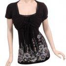 Womens Blouse Top Shirt Plus Size 1x Free Shipping Brand New Black