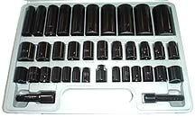 38 Pcs 3-8inch & half inch Impact Socket Set