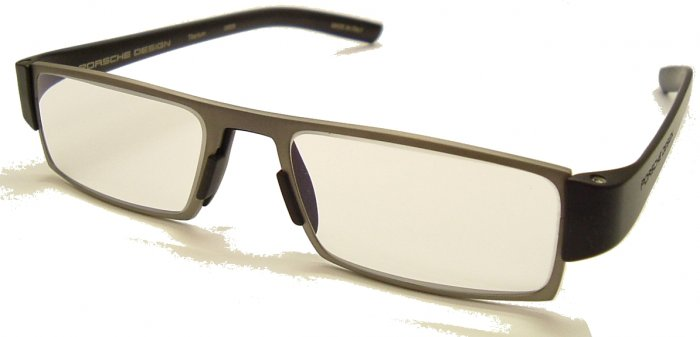 Porsche Design +2.50 Reading Tool P'8802 Titanium Frame Matt Black sides +2.50 PHOTOCHROMIC Lens