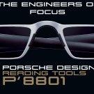 Porsche Design P'8801 +2.50 Lens Lightweight Reading Tool Matt Titanium/Black Colour