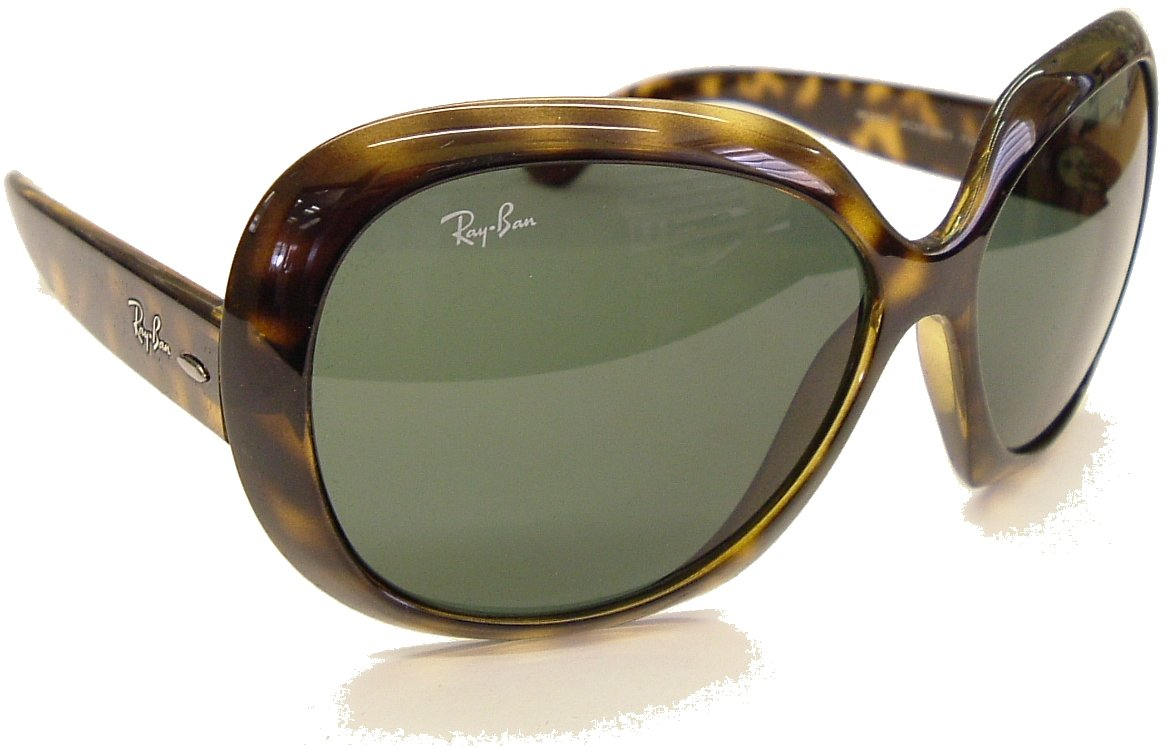 Ray Ban Highstreet Jackie OHH ll Sunglasses Model 4098 Light Havana Frame with G15 Gray-Green lens